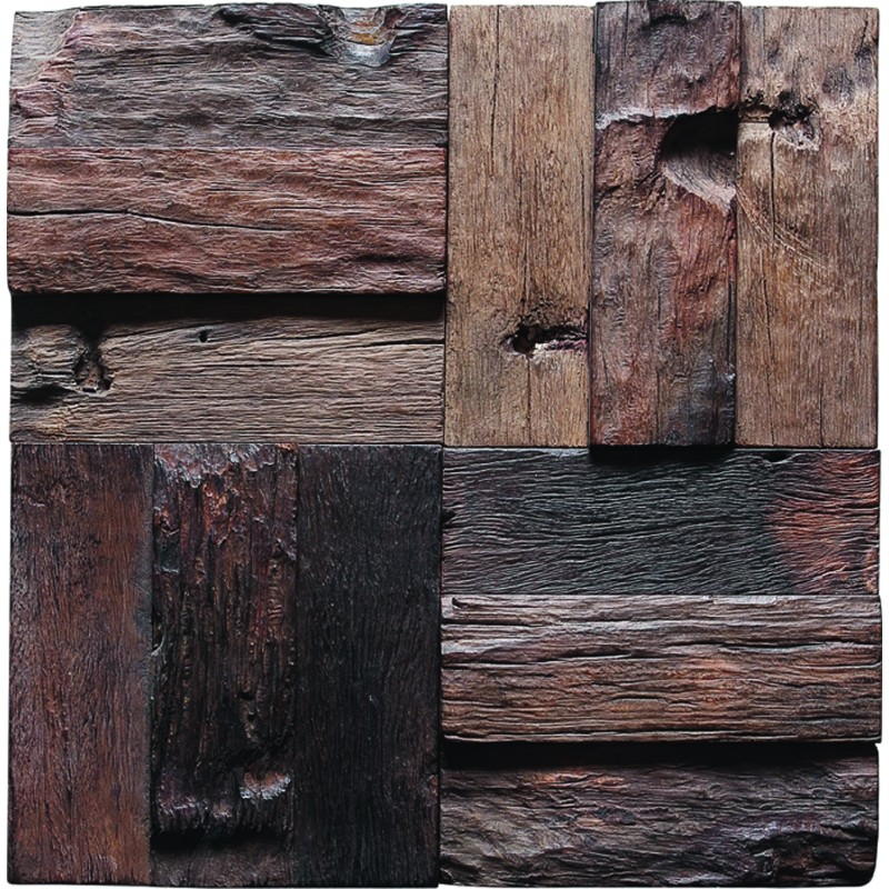 Tst Wooden Squared Mosaic Wall Old Wood Weathering Surface Home And