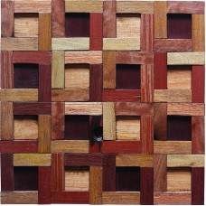 TST Wooden Squared Geometrical Mosaic Tiles Wall Panel Decor Contemporary Craftsman Interior Design