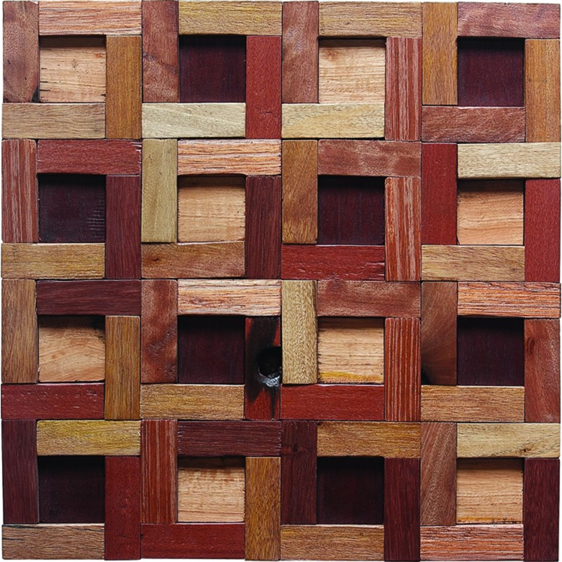 TST Wooden Squared Geometrical Mosaic Tiles Wall Panel Decor Contemporary  Craftsman Interior Design ...