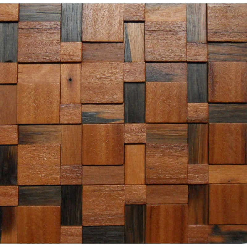 Tst Wooden Squared Mosaic Deco Lighted